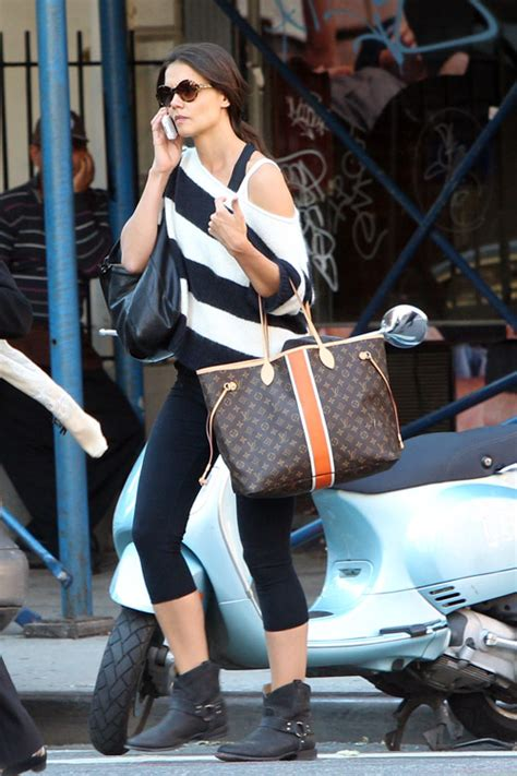 katie holmes carries louis vuitton  nyc purseblog