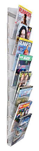 plastic magazine holders 8 pocket acrylic wall magazine rack impact resistant plastic 1545
