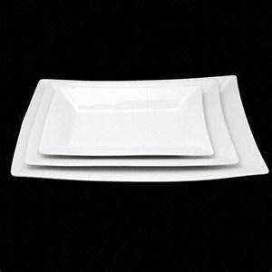 Square Ceramic Plate, Available in Various Sizes, Eco ...