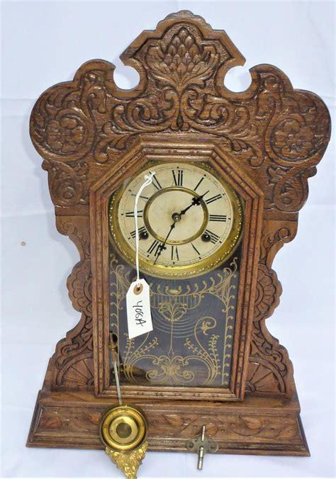 sold price antique oak gingerbread kitchen clock