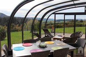 Abri De Terrasse Coulissant : l abri de terrasse coulissant saphir de forme arrondie ou ~ Dode.kayakingforconservation.com Idées de Décoration