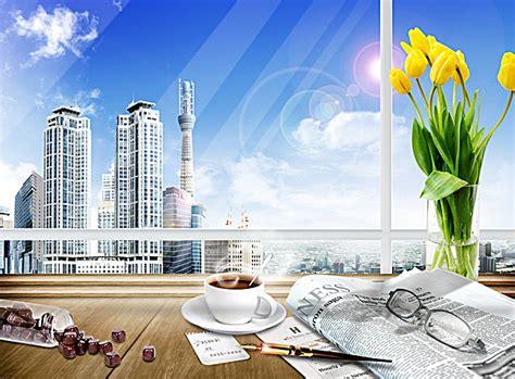 arriere plan bureau gratuit bureau de l 39 arrangement floral de lunettes de café d