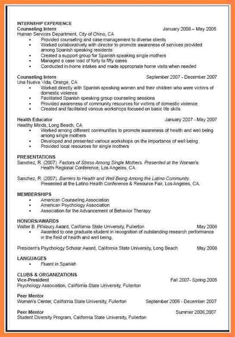 9 how to write a curriculum vitae for grad school