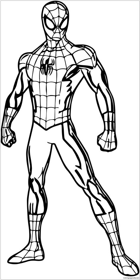 spider man pose coloring page  coloring pages