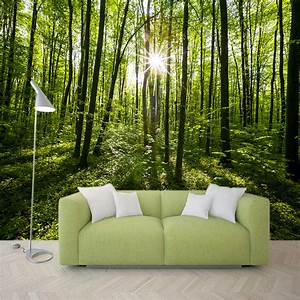Country Style Green Forest Nature Landscape Photo Mural ...
