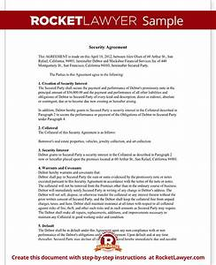 security agreement form ucc security agreement template With security contracts templates
