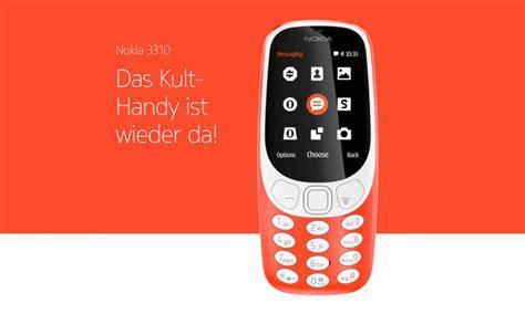 nokia handy neu nokia 3310 handy klassiker neu aufgelegt inklusive