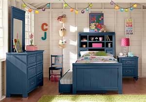 Kids, Cottage, Color, Alternate, S, Blue, 5, Pc, Full, Bookcase, Bedroom