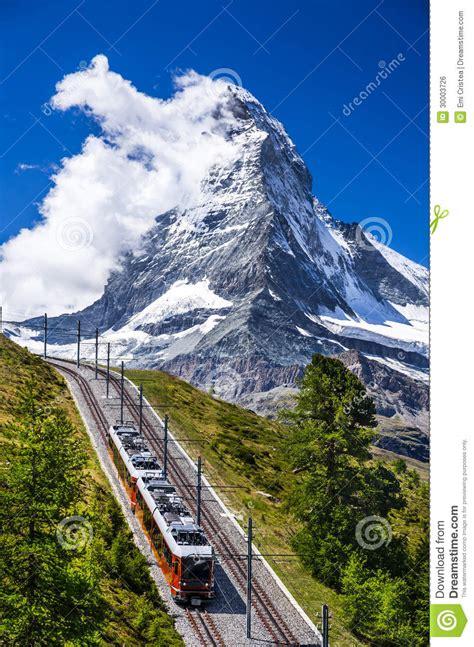 treno a cremagliera svizzera treno ed il cervino di gornergrat la svizzera immagine