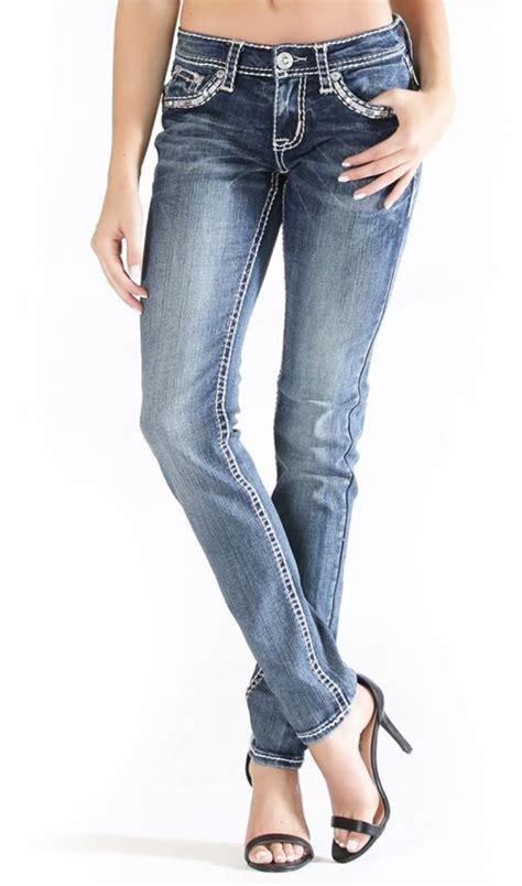 grace  la charme white stitch jeans theblingboxonlinecom