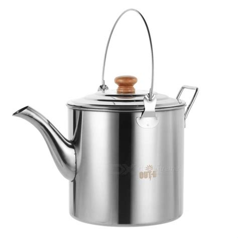 kettle camping pot stainless camp outdoor tea steel coffee teapot hiking 3l larger 2l