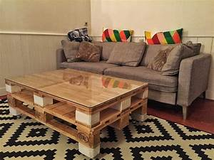 Table Basse Palettes : table basse palette moderne ~ Melissatoandfro.com Idées de Décoration