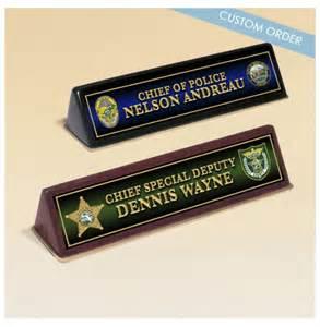 Law Enforcement Desk Name Plates