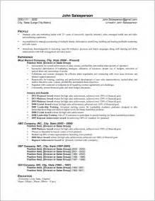 sle resume exles sales resume sle theresa delgado