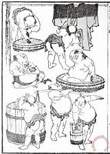 Sumo 1817 Wrestlers Others sketch template