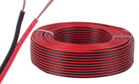 and black copper electric wire cable parallel spt flat wire speaker cable