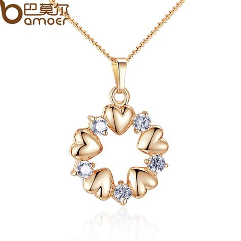 Bamoer Luxury Gold Color Heart Necklaces & Pendants With. White Wedding Band. Cross Lockets. Simulated Diamond Wedding Rings. Pear Shaped Rings. Leo Diamond Engagement Rings. Rose Gold Womens Wedding Band. Religious Bracelet. Dimond Chains