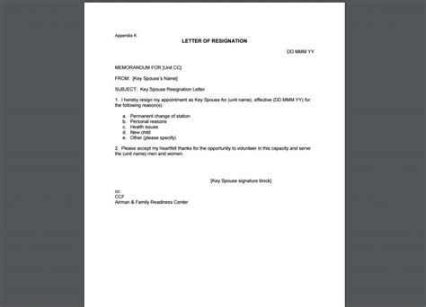 resignation letter template examples templates assistant