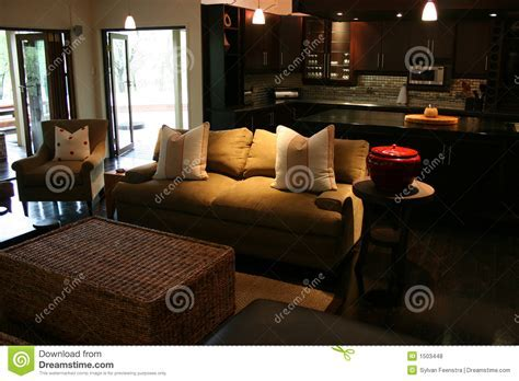 Modern African interior stock photo. Image of table