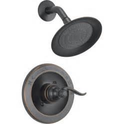 moen rubbed bronze kitchen faucet shop delta windemere rubbed bronze 1 handle watersense shower faucet with single function