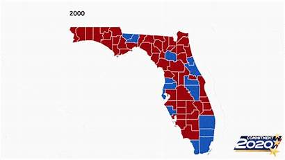 Election Florida Map County Results Presidential Voted