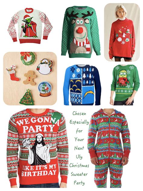 ugly christmas sweaters for your ugly sweater holiday