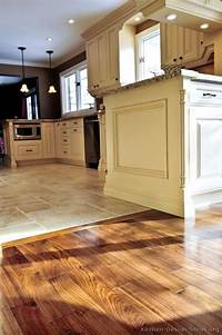 how to tile a kitchen floor #Kitchen Idea of the Day: Perfectly smooth transition from hardwood flooring to tile floors in ...
