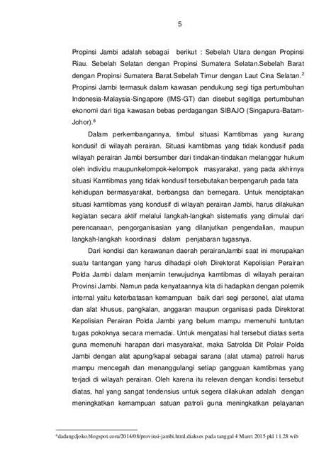 ISI Naskap-NKP patroli-AKBP DADANG DK-JAMBI