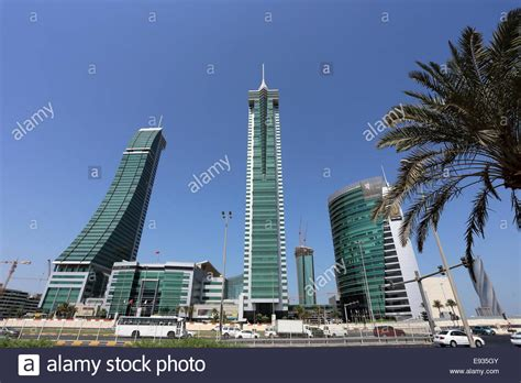 Financial Harbour towers, Manama, Kingdom of Bahrain Stock ...