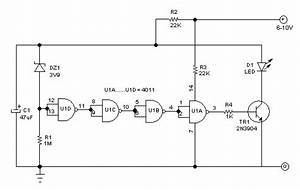 Low Power Consumption Indicator With Blinking Led