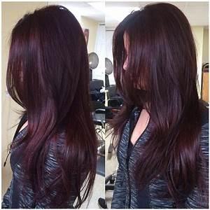 55 Dark Brown Purple Burgundy Hair Color Hairstyles Koees Blog