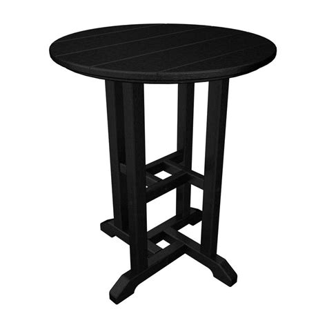 Shop Polywood 24 In W X 24 In L Round Plastic Dining Table