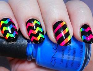 Marbled nails are another option if you want really colorful