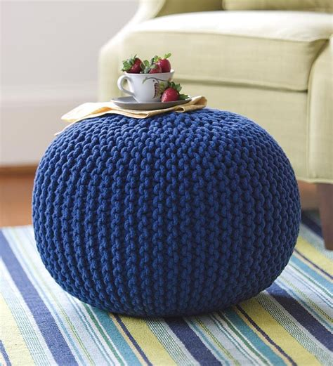 Knitted Pouf Ottoman by πάνω από 25 κορυφαίες ιδέες για Knitted Pouf στο