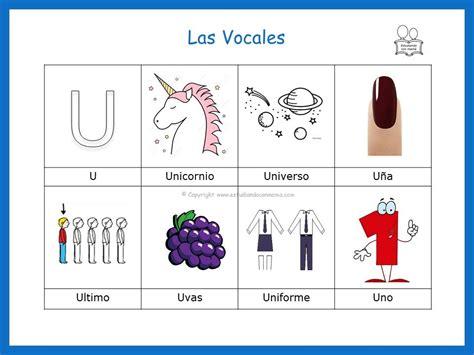palabras que inician con la vocal u vocales