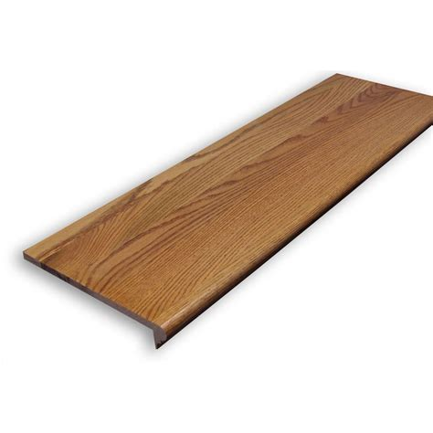 home depot wood stairs stairtek 0 625 in x 11 5 in x 36 in unfinished white oak retread xbtwo1136 the home depot