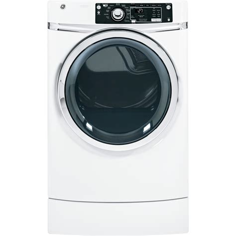 gas or electric dryer shop ge 8 1 cu ft gas dryer white at lowes com