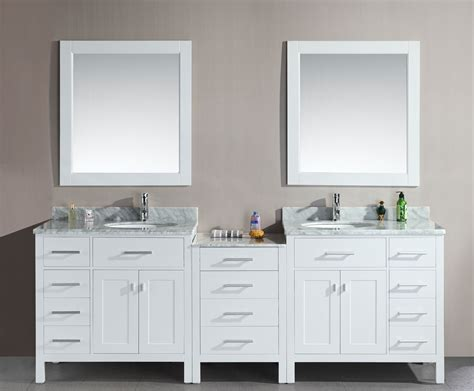 Avola Inch Double Sink Bathroom Vanity White Finish