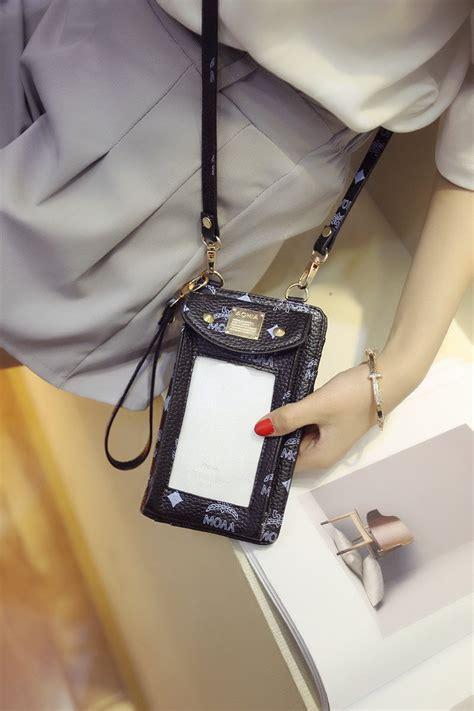 womens pu touch screen crossbody phone wallet bag