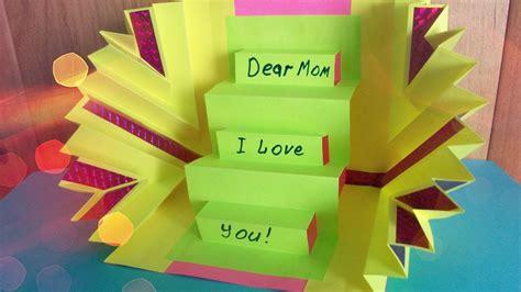 diy handmade amazing greeting pop  card  mother
