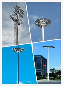 Professional m polygonal high mast stadium light pole