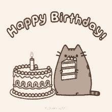 pusheen cat birthday gifs tenor