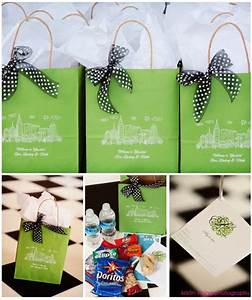 Love these out of town guest bags wedding welcome for Wedding guest hotel gift bag ideas