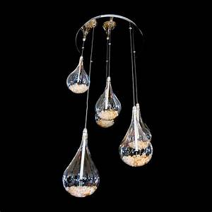 Arrow light tear drop shaped ceiling pendant in
