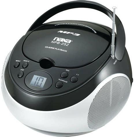 Portable Naxa Mp3 Cd Player With Am Fm Stereo Radio Black