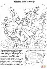 Coloring Pages Butterfly Mission Printable Crafts Puzzle Drawing sketch template