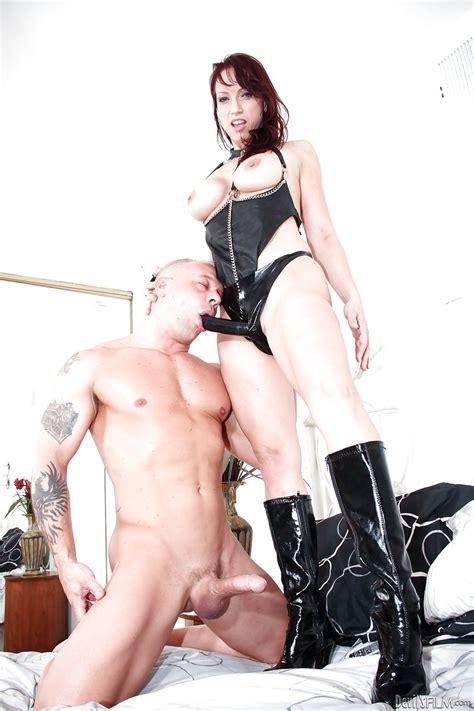 Femdom Mistress Nicki Hunter Dons Strapon To Train Her