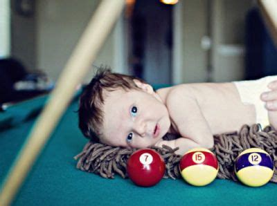 cute baby boy billiard pool themed newborn photo shoot