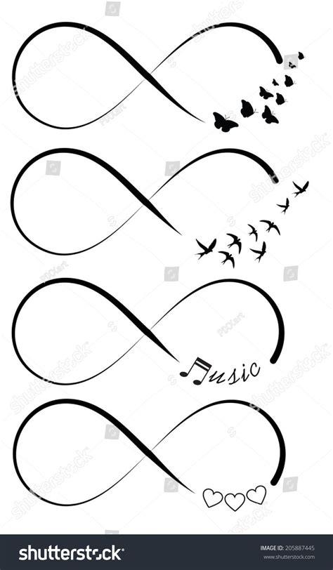 Coloring Vector Infinite Design by Infinity Symbols Tattoos Tatouage Tatouage Infini