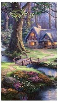 3D Fairy Tale Beautiful Scenery Hand Painting   AJ Wallpaper